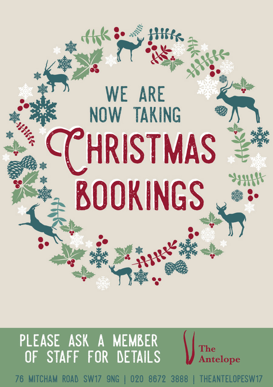 Christmas Bookings