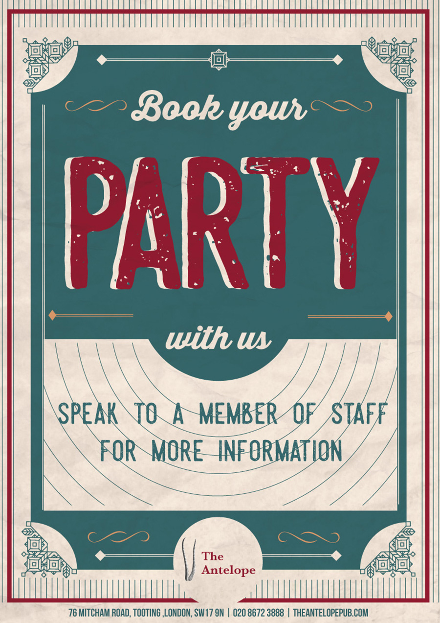 Party Bookings