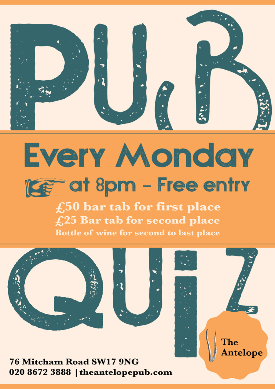 Pub Quiz – The Antelope